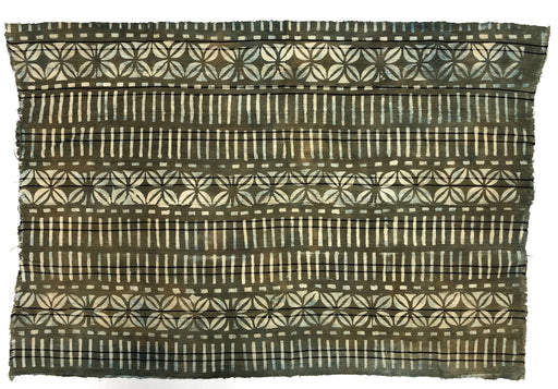 "Vintage Mud Cloth Textile from Mali - 50"" x 36"""