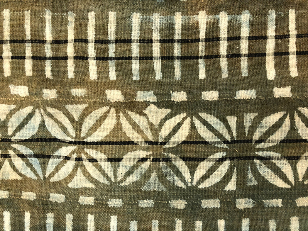 "Vintage Mud Cloth Textile from Mali - 50"" x 36"" - Niger Bend"