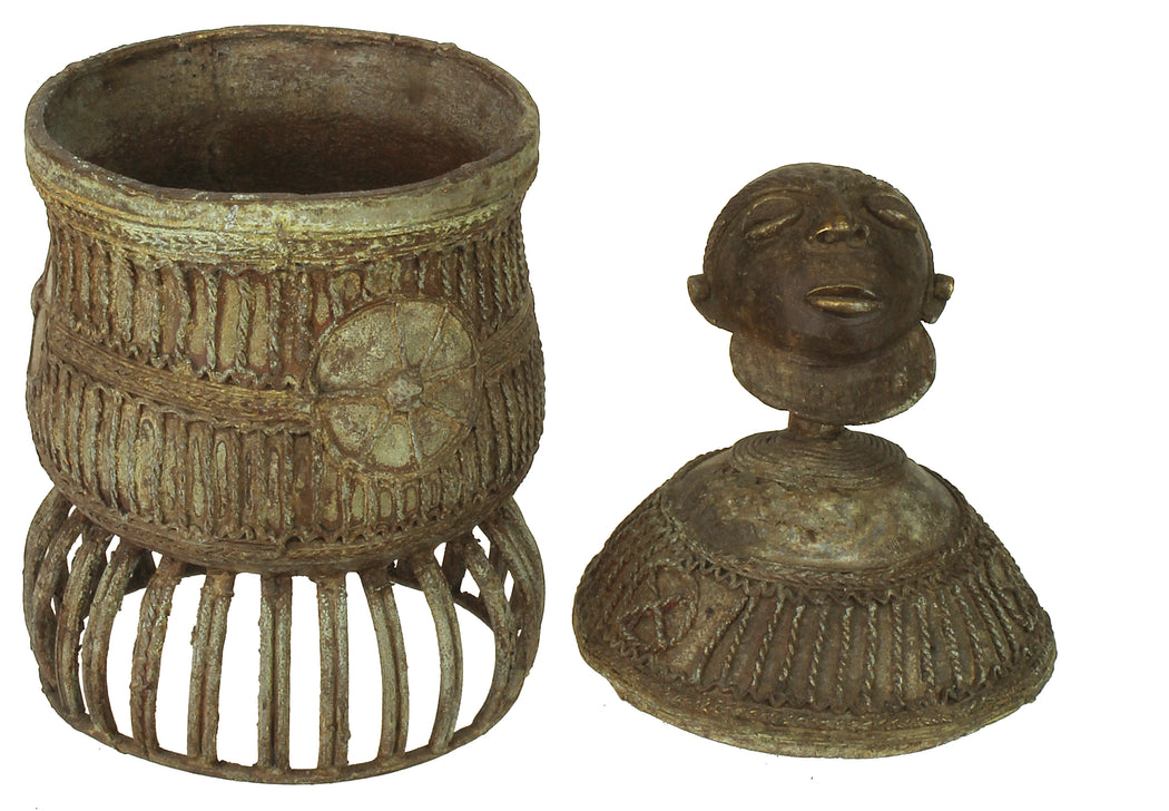 Asante Bronze Kuduo Container, Ghana - Africa | - Niger Bend