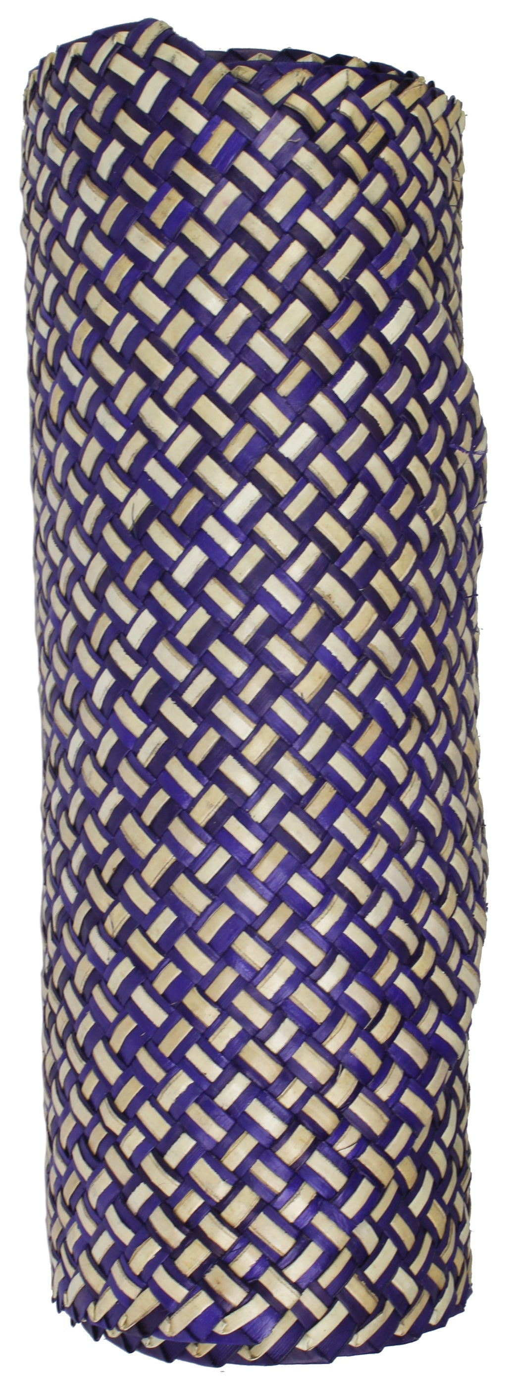 Table Runner Handwoven from Pandan Straw - Purple/Natural