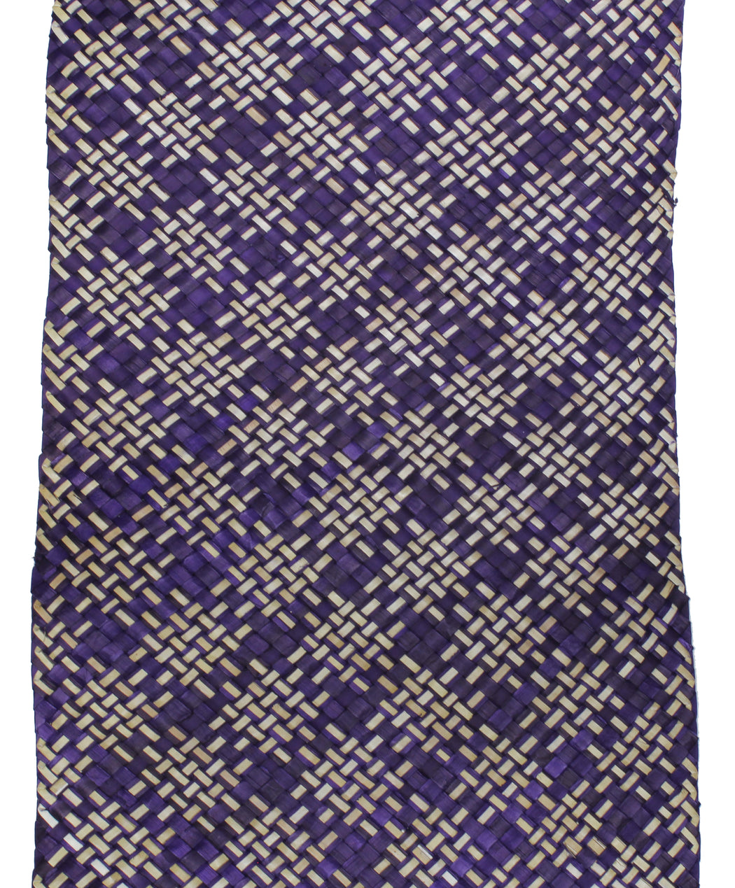 Table Runner Handwoven from Pandan Straw | Purple/Natural - Niger Bend
