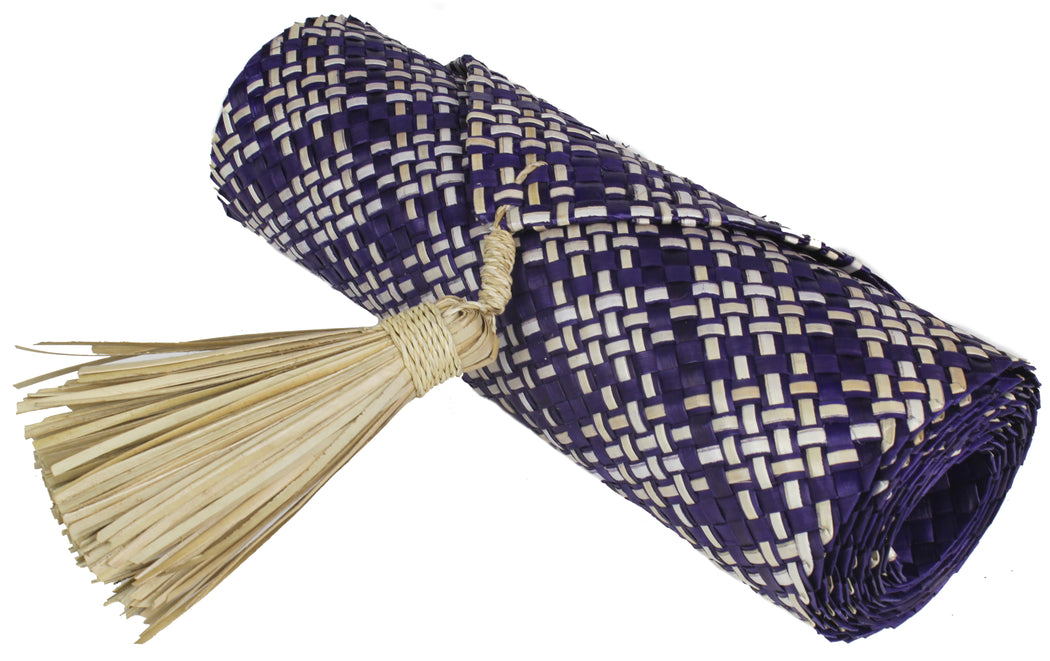 Table Runner Handwoven from Pandan Straw | Purple/Natural