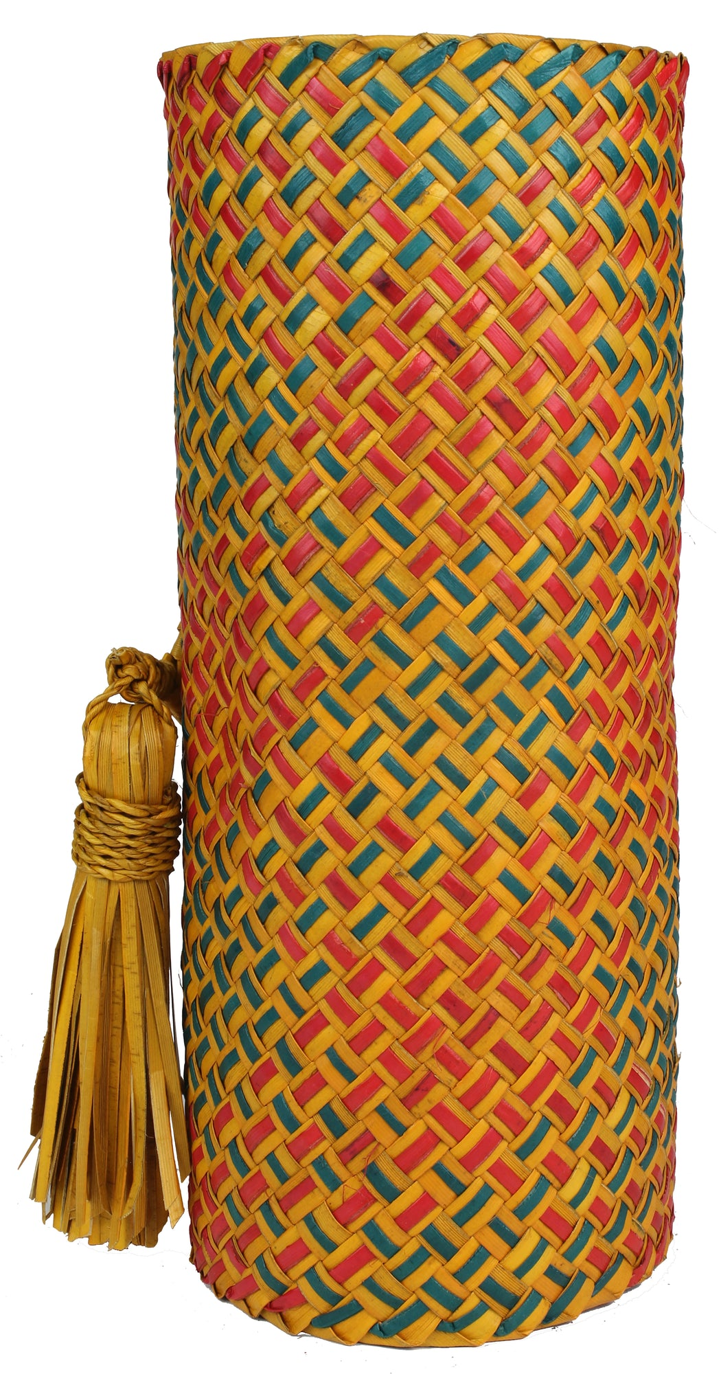 Table Runner Handwoven from Pandan Straw | Green/Orange/Red - Niger Bend