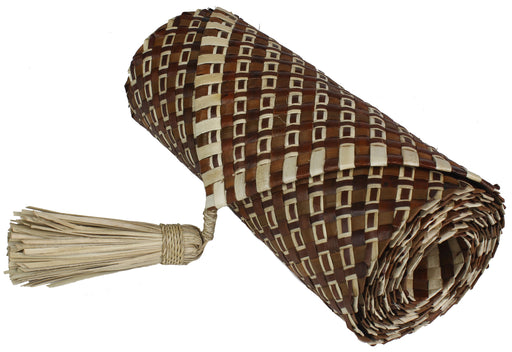 Table Runner Handwoven from Pandan Straw | Brown/Natural - Niger Bend