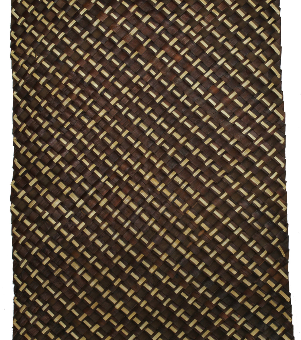 Table Runner Handwoven from Pandan Straw - Brown/Natural