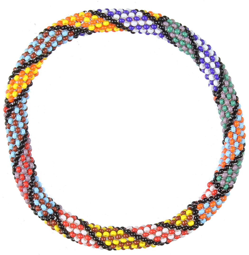 Colorful Patterned Stretchy Beaded Bracelet