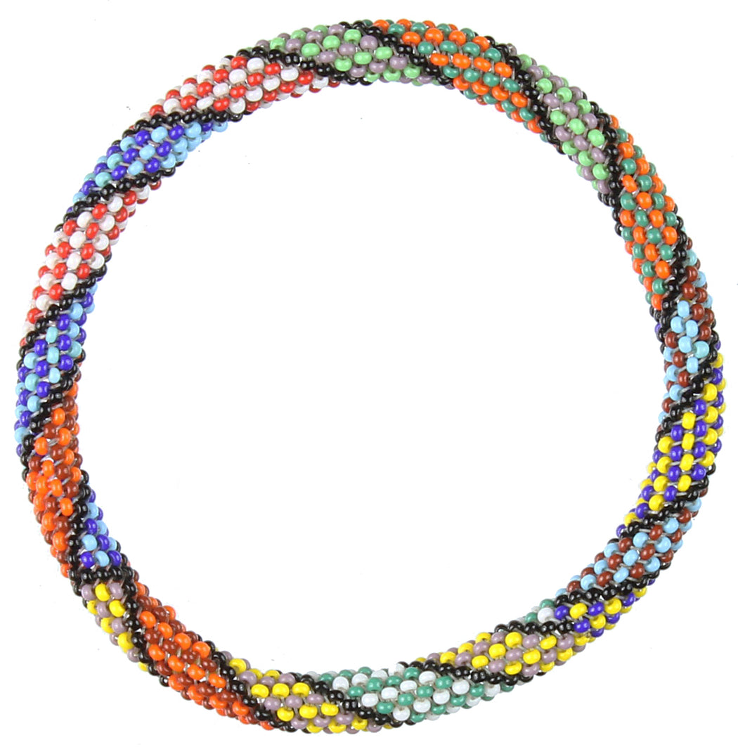 Colorful Patterned Stretchy Beaded Bracelet - Niger Bend