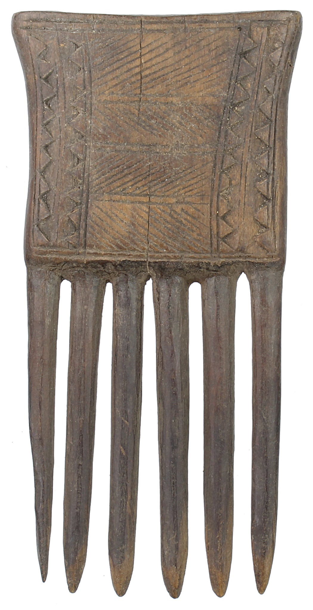 "Vintage Baule Comb from Ivory Coast - 5"" x 2.5"" - Niger Bend"