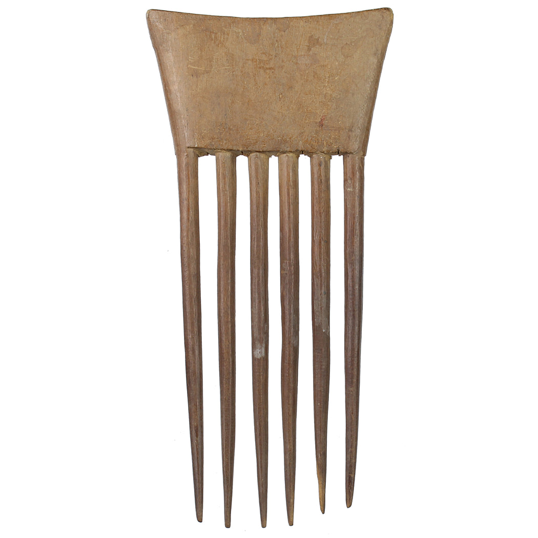 "Vintage Baule Comb from Ivory Coast - 6.25"" x 3"" - Niger Bend"