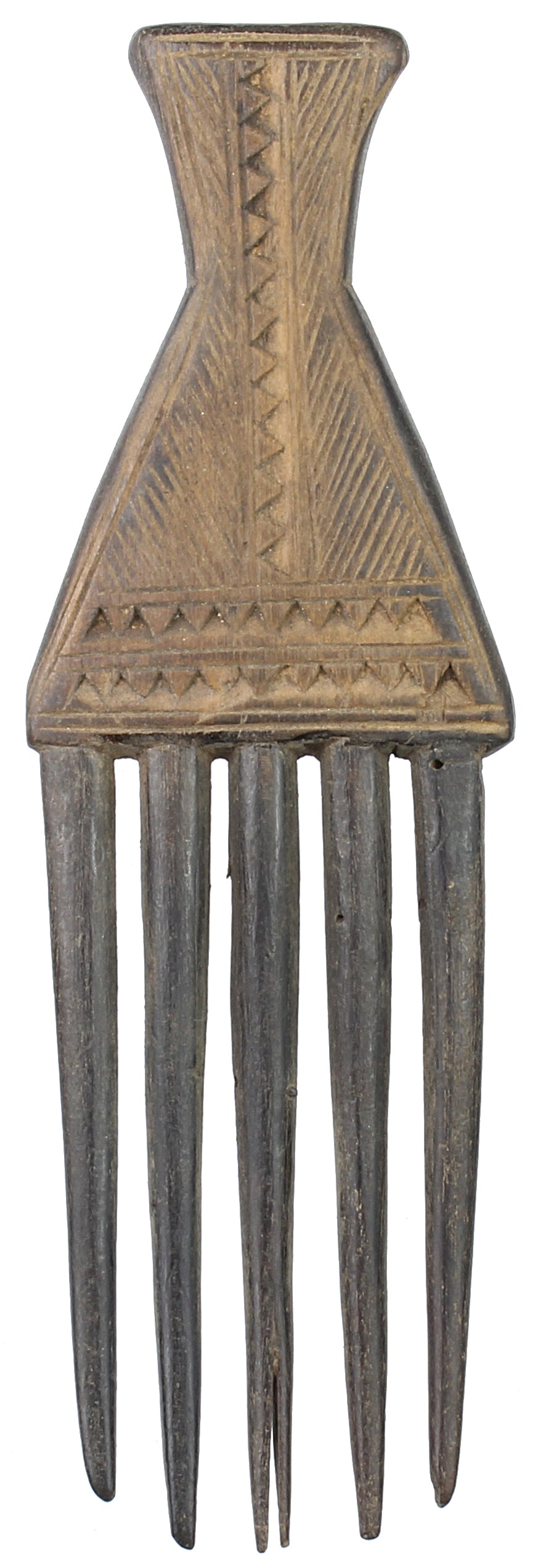 "Vintage Baule Comb from Ivory Coast - 5.75"" x 3.75"" - Niger Bend"