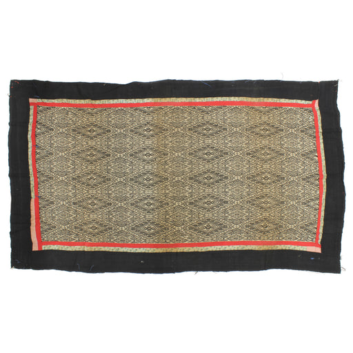 "Vintage Black Tay Textile from Vietnam | 69"" x 39"""