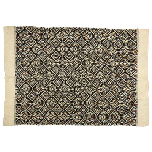"Vintage Black Tay Textile from Vietnam | 58"" x 39"""
