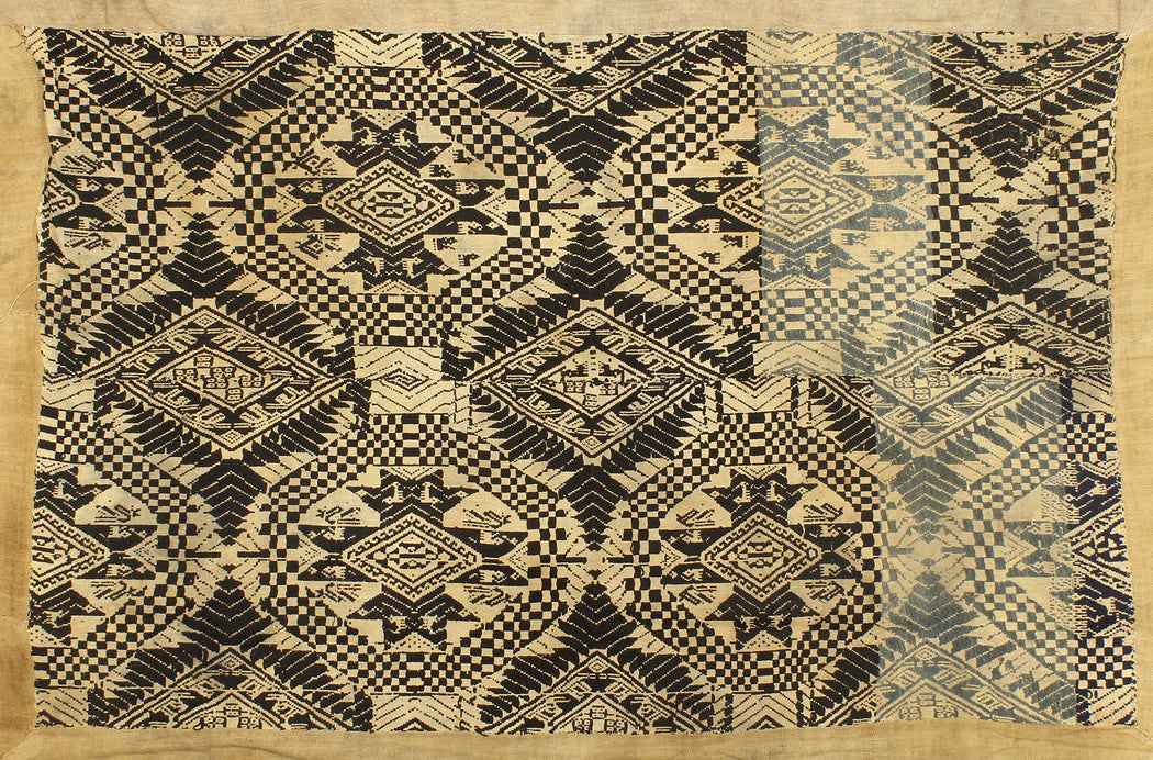 "Vintage Black Tay Textile from Vietnam | 66"" x 48"" - Niger Bend"