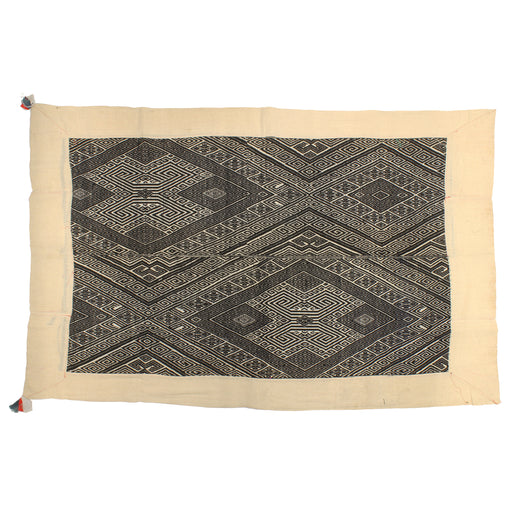 "Vintage Black Tay Textile from Vietnam | 60"" x 37"""