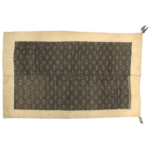 "Vintage Black Tay Textile from Vietnam | 65"" x 38"""