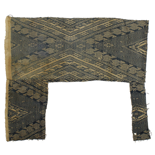 "Vintage Black Tay Textile from Vietnam | 36"" x 31"""