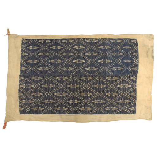 "Vintage Black Tay Textile from Vietnam | 59"" x 34.5"" - Niger Bend"