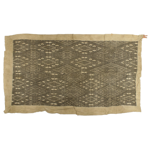 "Vintage Black Tay Textile from Vietnam | 65"" x 37"""
