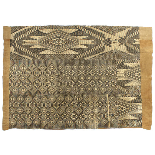 "Vintage Black Tay Textile from Vietnam | 63"" x 42"""