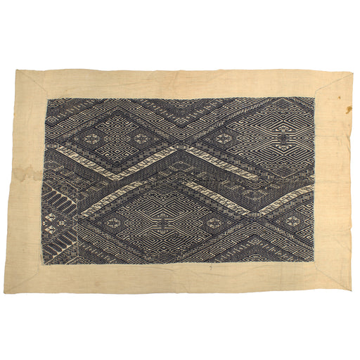 "Vintage Black Tay Textile from Vietnam | 62"" x 40"" - Niger Bend"