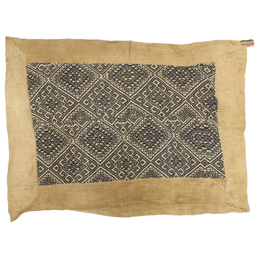 "Vintage Black Tay Textile from Vietnam | 57"" x 40"" - Niger Bend"