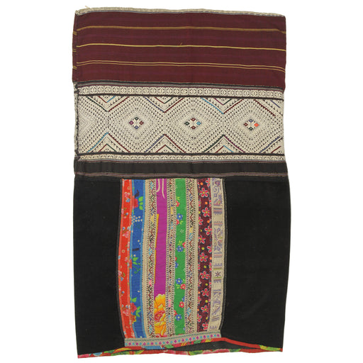 "Vintage Ethnic Lu Skirt from Northern Vietnam | 30"" x 19"" - Niger Bend"