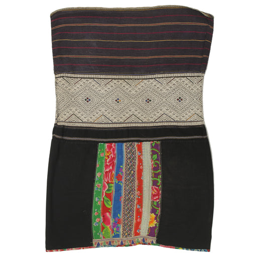 "Vintage Ethnic Lu Skirt from Northern Vietnam | 32"" x 21"" - Niger Bend"