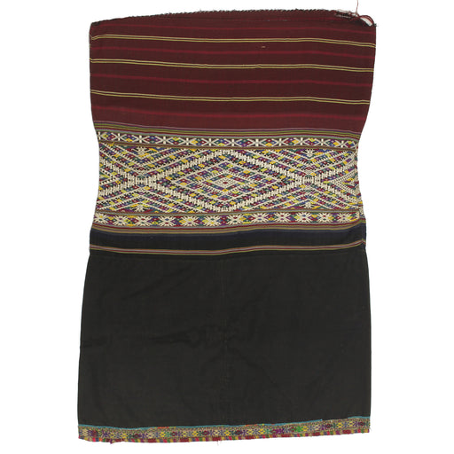 "Vintage Ethnic Lu Skirt from Northern Vietnam | 34"" x 23.5"" - Niger Bend"