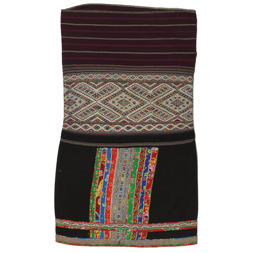 "Vintage Ethnic Lu Skirt from Northern Vietnam | 38"" x 22"" - Niger Bend"