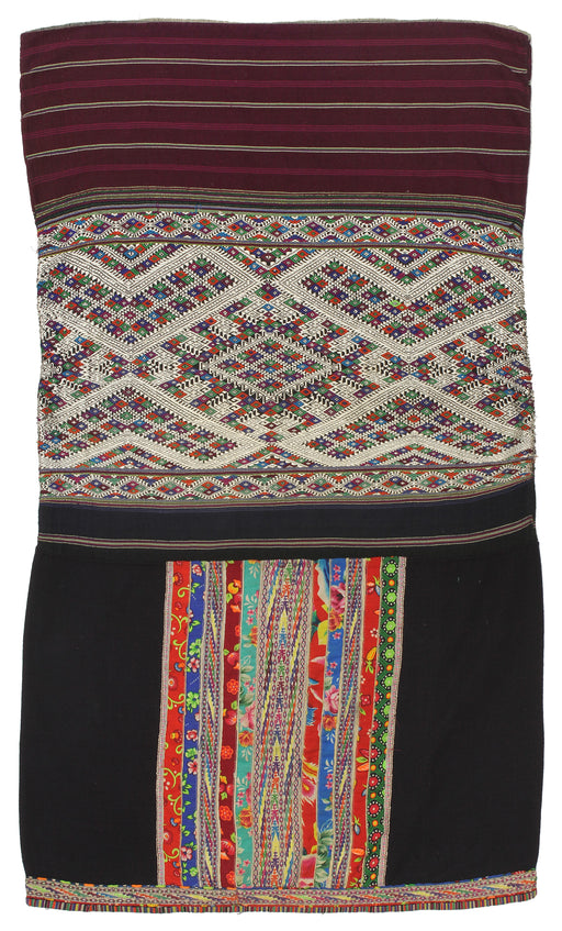 "Vintage Ethnic Lu Skirt from Northern Vietnam | 37"" x 22"" - Niger Bend"