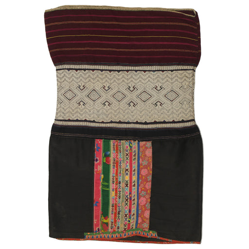 "Vintage Ethnic Lu Skirt from Northern Vietnam | 34"" x 22"" - Niger Bend"