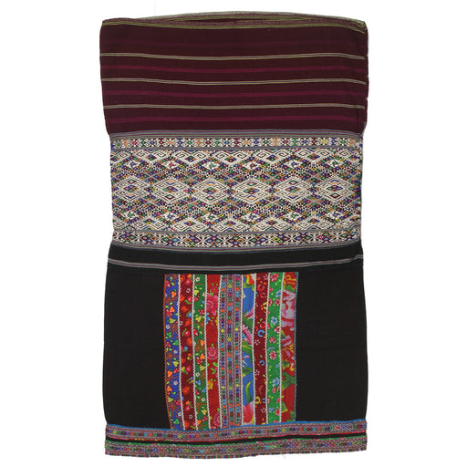 "Vintage Ethnic Lu Skirt from Northern Vietnam | 37"" x 23"" - Niger Bend"