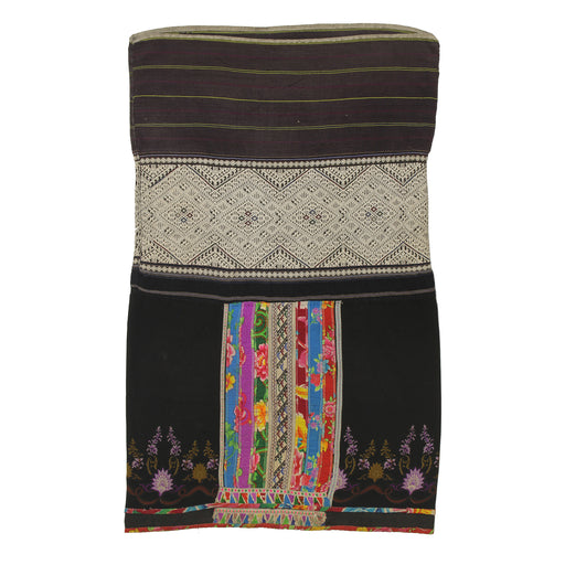 "Vintage Ethnic Lu Skirt from Northern Vietnam | 34"" x 21"" - Niger Bend"