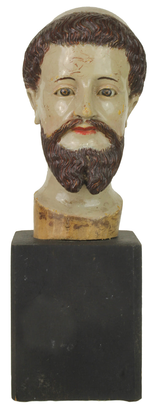 "Antique Vietnamese Saint Figure Head | 9"" NP - Niger Bend"