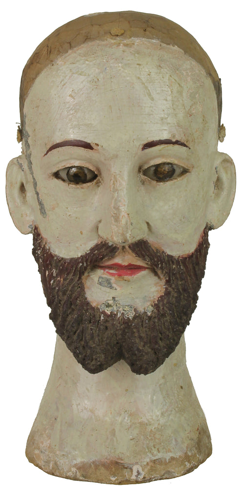 "Antique Vietnamese Saint Figure Head | 6.75"" NP - Niger Bend"