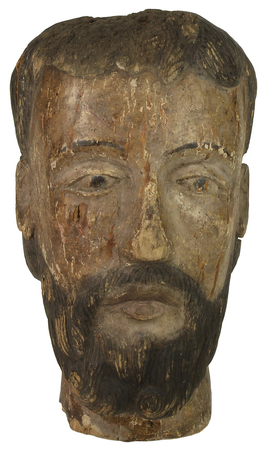 Antique Vietnamese Saint Figure Head NP - Niger Bend