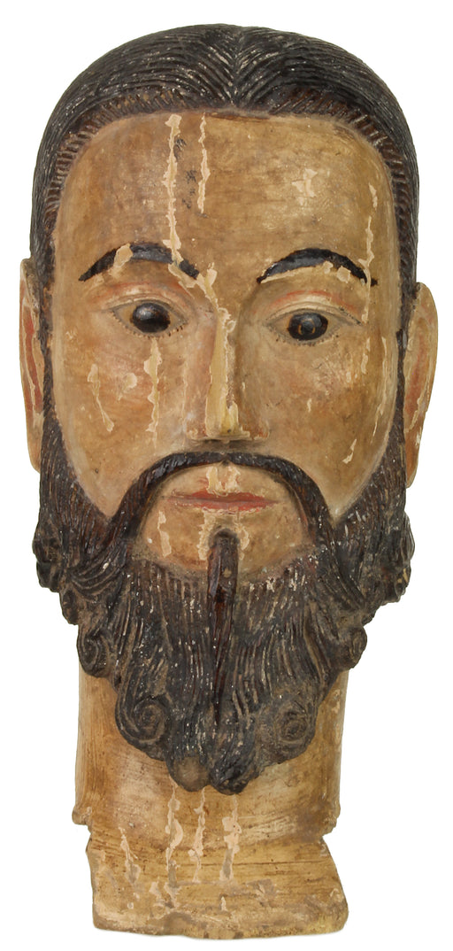 Antique Vietnamese Saint Figure Head - Niger Bend