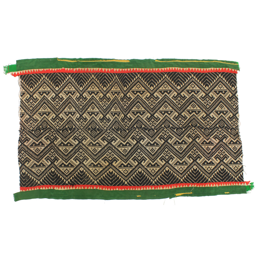 "Vintage Muong Textile Blanket from Vietnam | 60"" x 37"" - Niger Bend"
