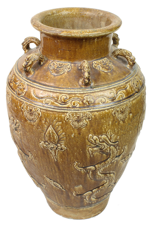 Rare Beautiful Antique Vietnamese Pot - Niger Bend
