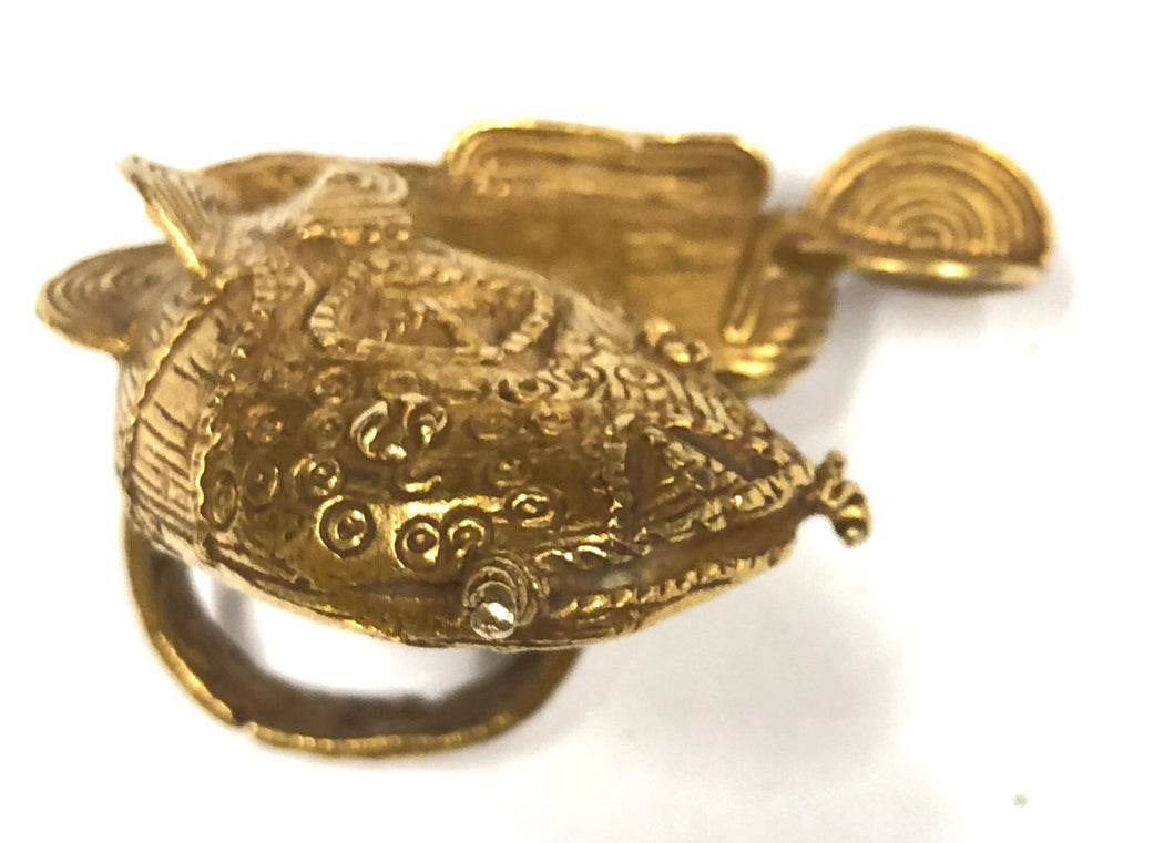 Gold Mud Fish Ring - Niger Bend