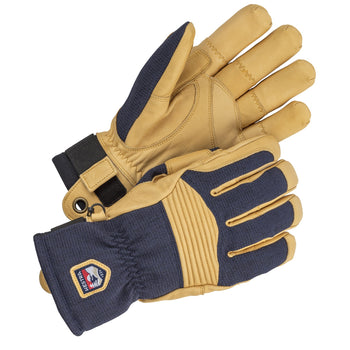 Hestra Army Leather Couloir Ski and Snowboard Gloves - Navy and Tan