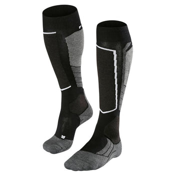 Falke SK2 Wool Womens Ski Socks in Black