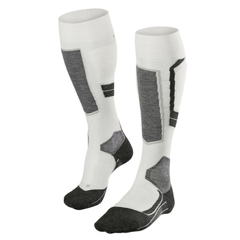 Falke SK4 Womens Ski Socks in White