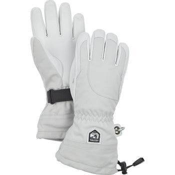 Hestra Heli Ski Female 5 Finger In Pale grey and  Off-white