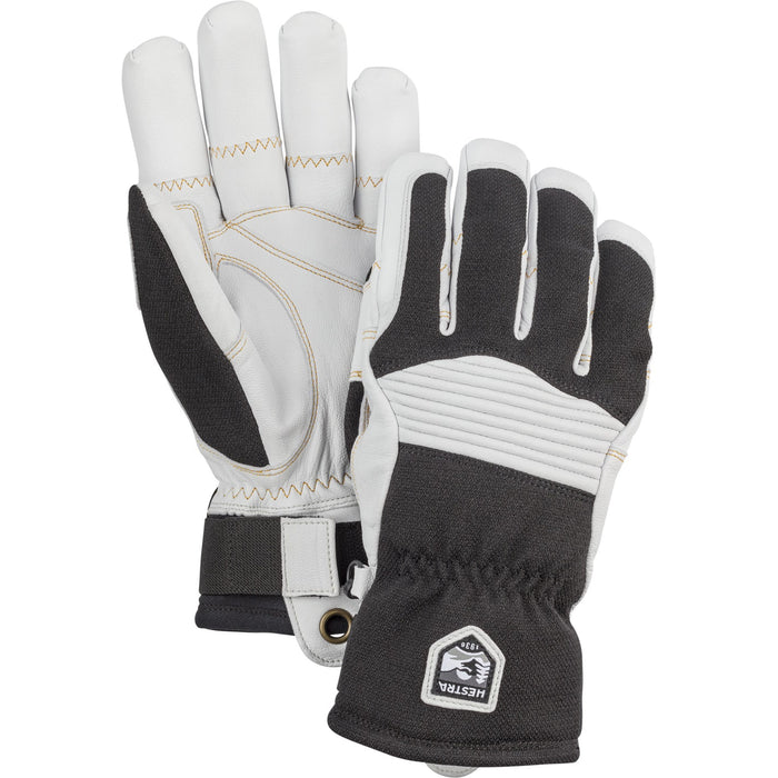 Hestra Army Leather Couloir Ski and Snowboard Gloves - Black and Off White