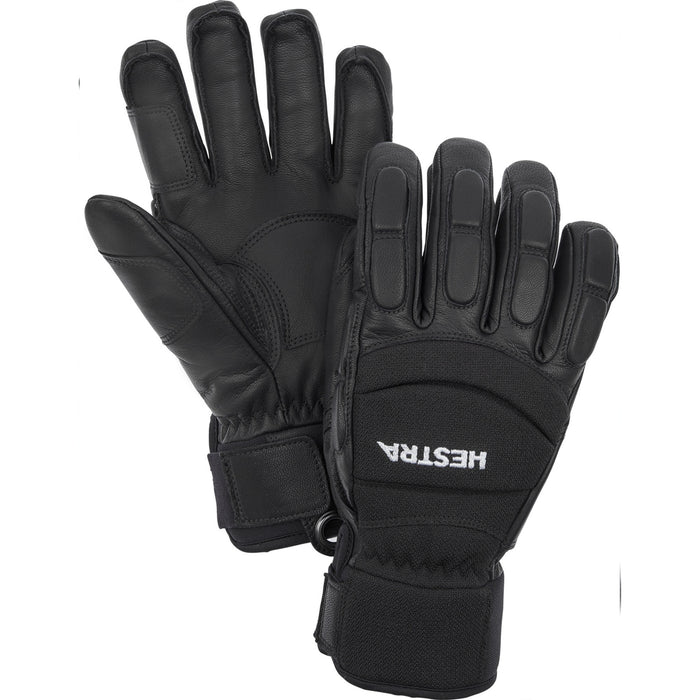 Hestra Vertical Cut 5F CZone Unisex Ski and Snowboard Gloves In Black