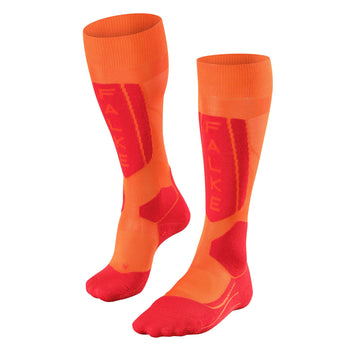 Falke SK5 Womens Ski Socks in Orange