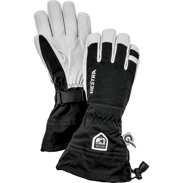 Hestra Army Leather Heli Ski Glove Unisex 5 Finger Black