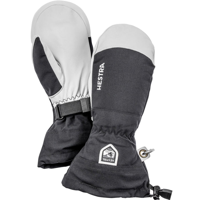 Hestra Army Leather Heli Ski & Snowboard Mitten Unisex Black