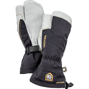 Hestra Army Leather GTX GORE-TEX Ski Gloves 3 Finger Lobster Style Unisex